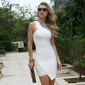 Wholesale New Fashion Women Celebrity Prom Party Dress One Shoulder Sexy Mini Dress 2017 Sleeveless Bodycon Bandage Dresses