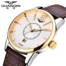 Marca Original Guanqin Hombres Reloj Luminoso Reloj de Cuarzo Guanqin 2016 Hombres Relojes de Lujo Reloj Resistente Al Agua Reloj de pulsera Masculino