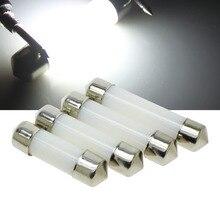 Светодиодный купол с фестонами 31 мм 36 мм/39 мм/41 мм c5w 212-2 6418 холодный белый Лампа фонарь освещения номерного знака светодиодный светильник лампы молочно крышка лампы 12V