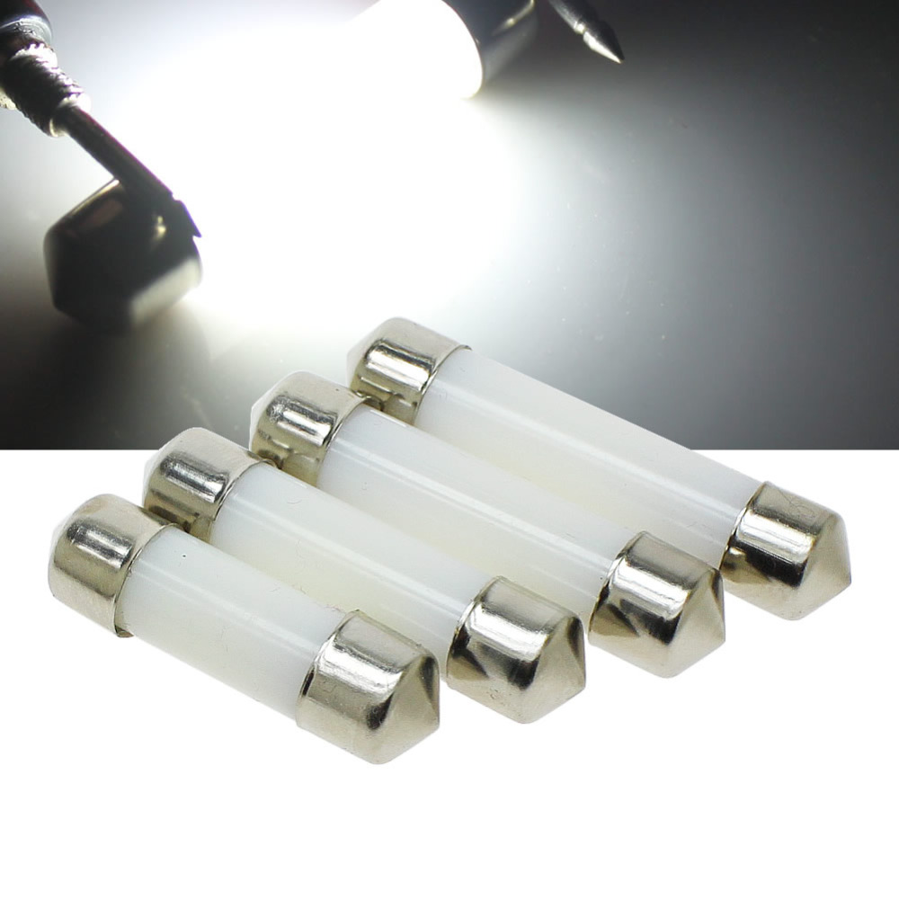 A lâmpada branca fria da placa de licença da leitura do diodo emissor de luz conduziu bulbos leitosos da cobertura 12 v a abóbada 31mm 36mm 39mm 41mm c5w 212-2 6418