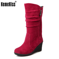 Size 28 50 Women Wedge Half Short Ankle Boots Rainbow Color Winter Snow Boot Fashion Footwear