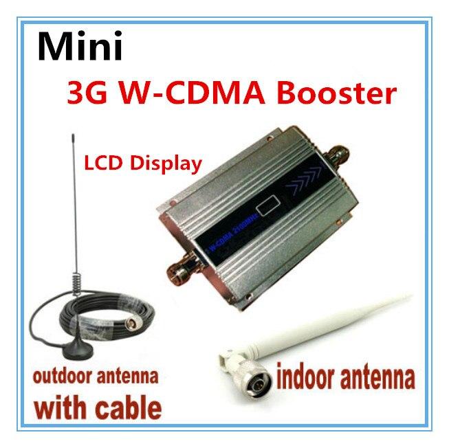 LCD Famille WCDMA UMTS 3G 2100 MHz Téléphone Mobile Signal Booster Répéteur 3G GSM Repetidor Téléphone portable Signal amplificateur avec Antenne