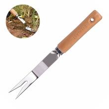 Гаджеты для прополки вилка для удаления трансплантации деревянной ручкой ручной инструмент Grubber культивирование копания садовая Обрезка легкий
