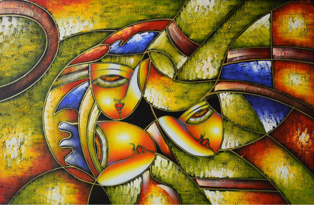 Hand Painted Abstract Oil Painting On Canvas Modern Famous Picasso ...