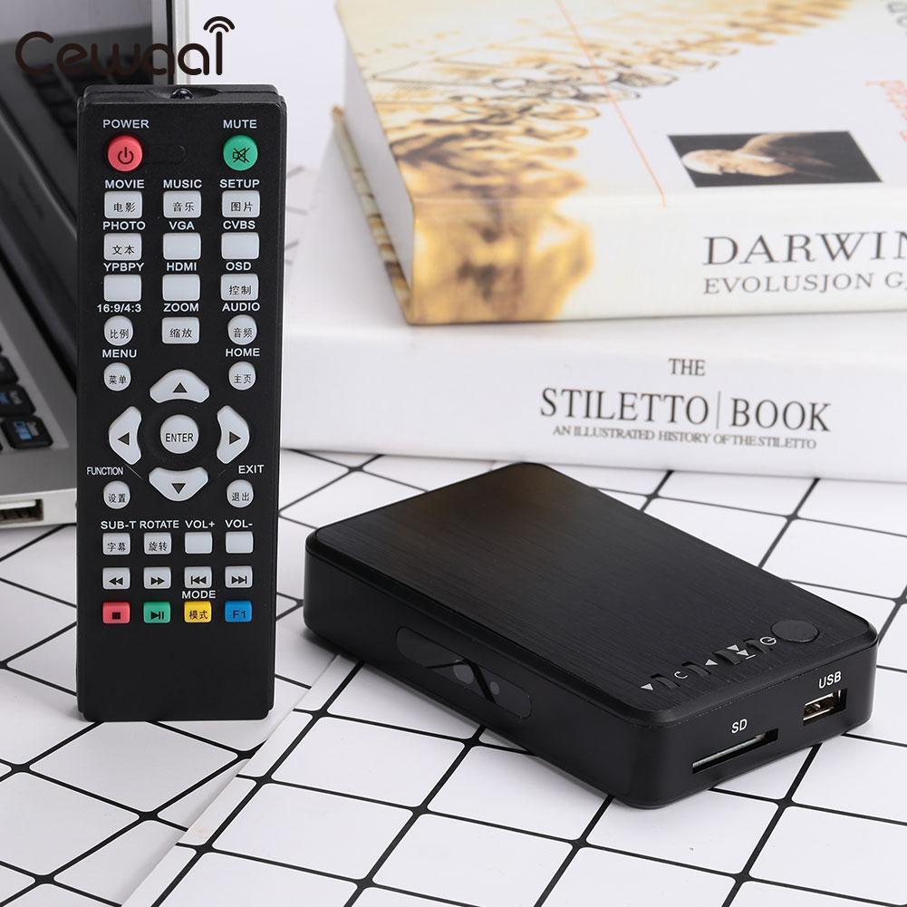 Boîtier de convertisseur Full HD lecteur multimédia numérique Audio SDHC MKV universel MINI Portable