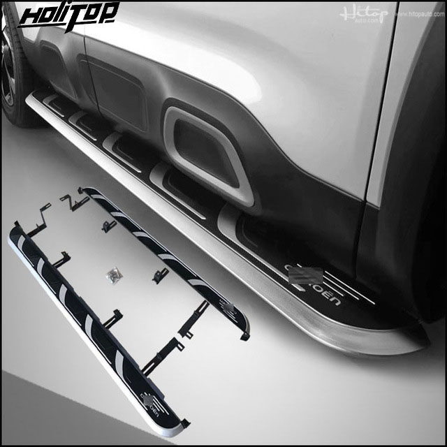 New arrival nerf bar foot board pedals side step for Citroen C5 AIRCROSS aluminum alloy top