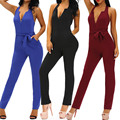 Women Jumpsuit Romper lady Sleeveless bodysuit women Black Trousers long pants in womens clothes sexy Overalls playsuit
