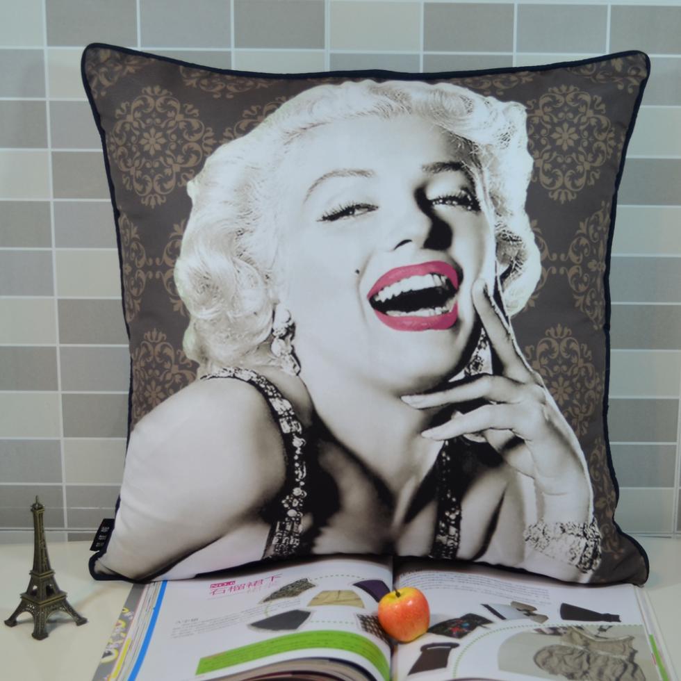 45 * 45 CM Retro Vintage Marilyn Monroe Pop Art Microfiber Square - Tekstil rumah