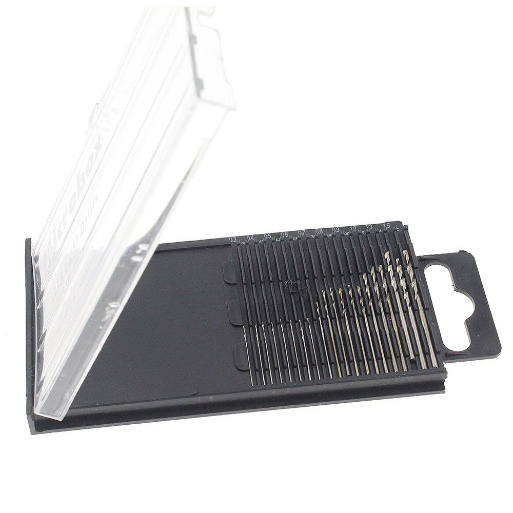 20 Pcs/set 0.35-1.6mm High Speed Steel HSS Twist Drill Bit Set PCB Mini Drill Jewelry Tools Dremel Bit With Box