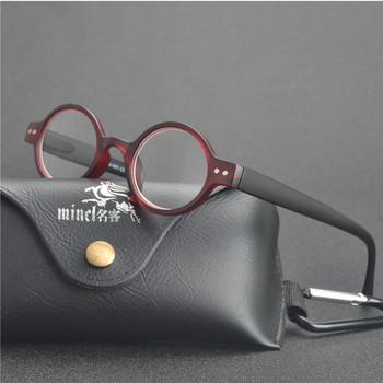 MINCL mała okrągła oprawka mężczyźni kobiety okulary do czytania okulary do czytania Vintage Leopard okulary ramka okrągłe okulary do czytania FML tanie i dobre opinie WOMEN WHITE Lustro Poliwęglan 00inch Z tworzywa sztucznego