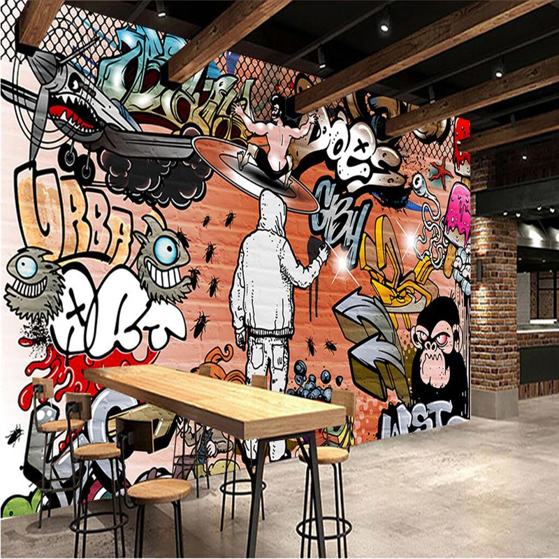Custom Any Size Modern Wall Paper Background Hip Hop