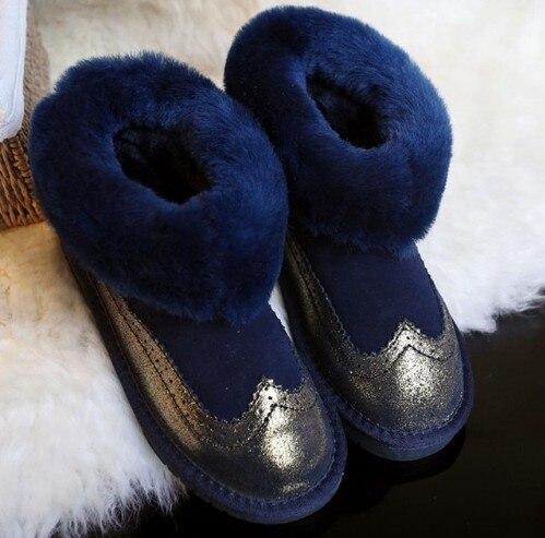 colore 2018 Classic Commercio Pelle Black All'ingrosso Boots Scarpe Snow blu Lana Genuino argento lavanda Rosa Donne Mini arancione Di Stivali Delle Caviglia Caldo Qualità Vera Inverno Pecora Alta SSPr1nw0dq