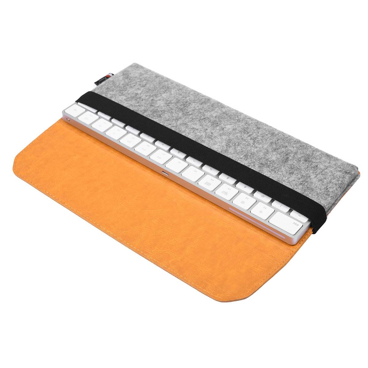Protective Storage Case Shell Bag PU Leather Protection Sleeve Case Storage Bag For Apple Magic Keyboard