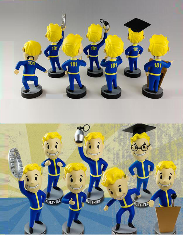 13CM anime figure Gaming Heads Fallout 4 Vault Boy TOY Bobbleheads Series figure collectible model toys brinquedos image