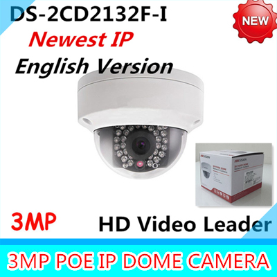 Wholesale Newest English Version IP Camera DS-2CD2132F-I 3MP Mini IR Dome Camera 1080P POE IP CCTV Camera Multi-language newest hik ds 2cd3345 i 1080p full hd 4mp multi language cctv camera poe ipc onvif ip camera replace ds 2cd2432wd i ds 2cd2345 i