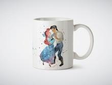 Die Kleine Meerjungfrau Ariel tassen Küche Decor ceramic art home aufkleber eule bier milch tee porzellan-kaffeebecher tassen