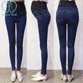 923 # Primavera Outono Denim Maternidade Jeans Calças Barriga Lápis Gravidez Roupas para Mulheres Grávidas Cintura Ajustável Calças Desgaste