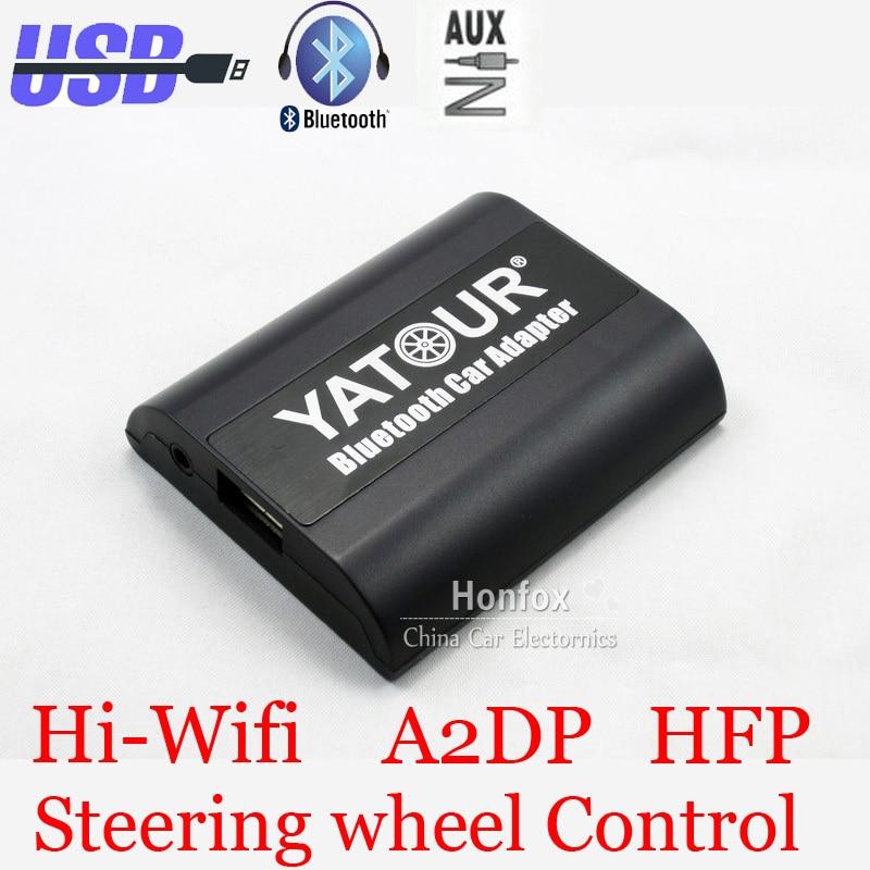 Yatour Bluetooth Car Adapter For Nissan / Infiniti Headunit YT-BTA Hand free AUX IN HI-FI A2DP AVRCP USB Charging port