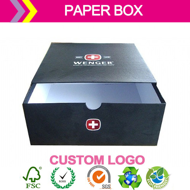 hight quality company brand printing logo paper box for jew watch/earphone/phone/power/products packaging Event & Party Supplies