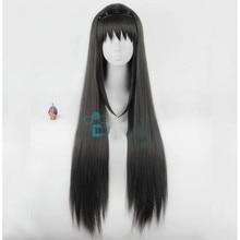 Anime Puella Magi Madoka Magica Akemi Homura Cosplay Wig Lon
