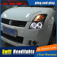 Auto part Style LED Head Lamp for SUZUKI Swift led headlights 2005 2011 for Swift drl H7 hid Bi Xenon Lens angel eye low beam