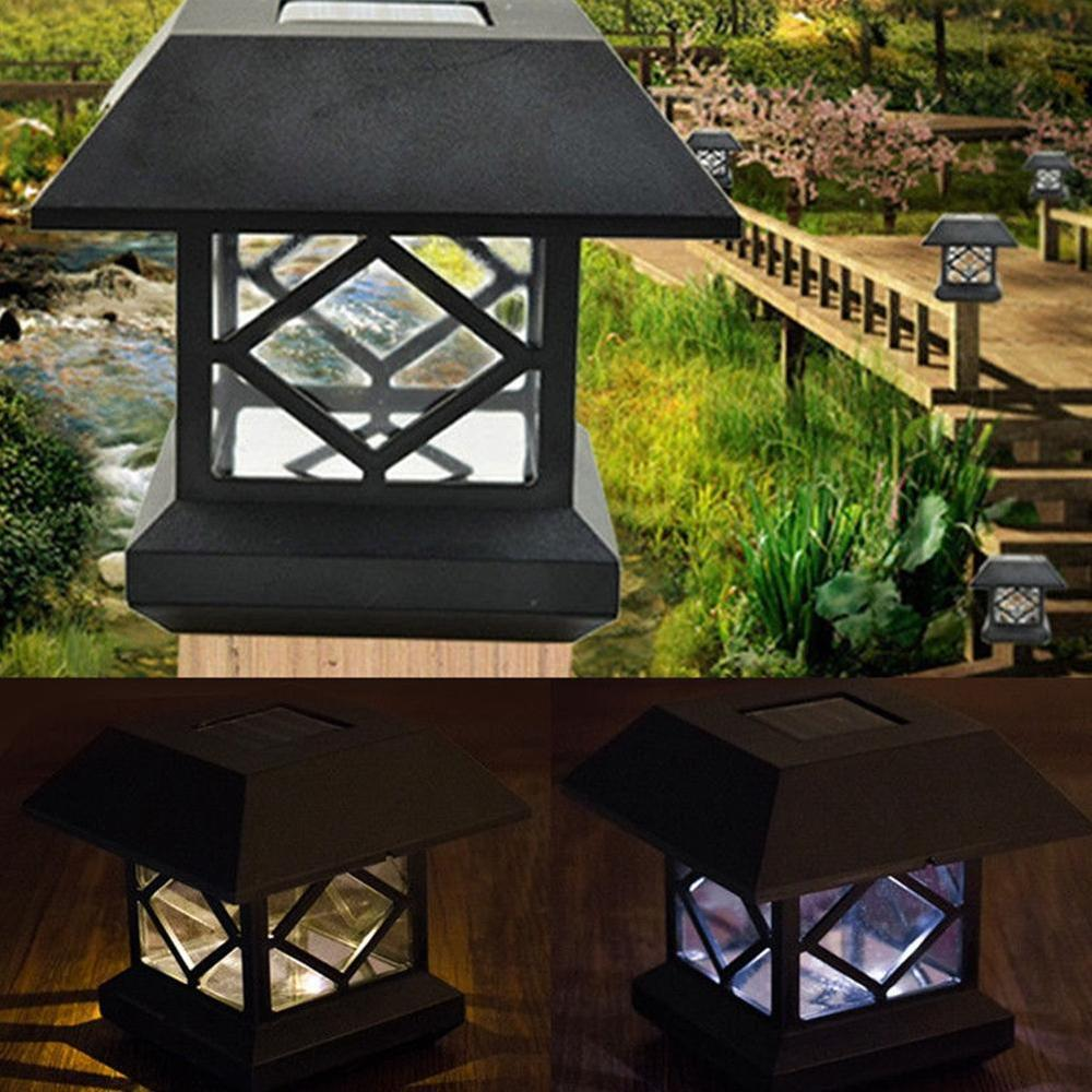 Solar Post Cap Lights Outdoor Freejoy led solar fence post cap lights outdoor garden solar post freejoy led solar fence post cap lights outdoor garden solar post deck cap auto sensor light landscape lamp in solar lamps from lights lighting on workwithnaturefo