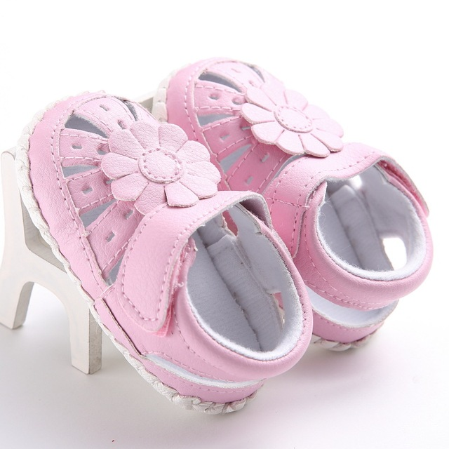 9cc18cbcfa3e Raise Young Summer PU Leather Baby Girl Sandals Flower Hollow Soft Soles  Toddler Girl Shoes Newborn Infant Footwear 0-18M