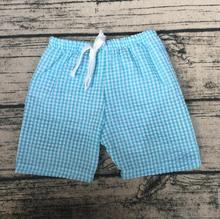 2017 crianças roupas de verão para meninos e meninas por atacado boutique menino adolescente calções Novo estilo de moda shorts Seersucker