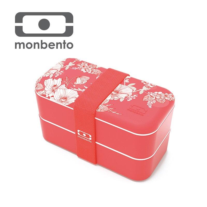 France Monbento Original Printing Double-deck Lattice Microwave Oven Lunch Box monbento
