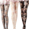 2016 New Women Fashion Rose Pattern Tight Lace Pantyhose Sexy See-through Stockings