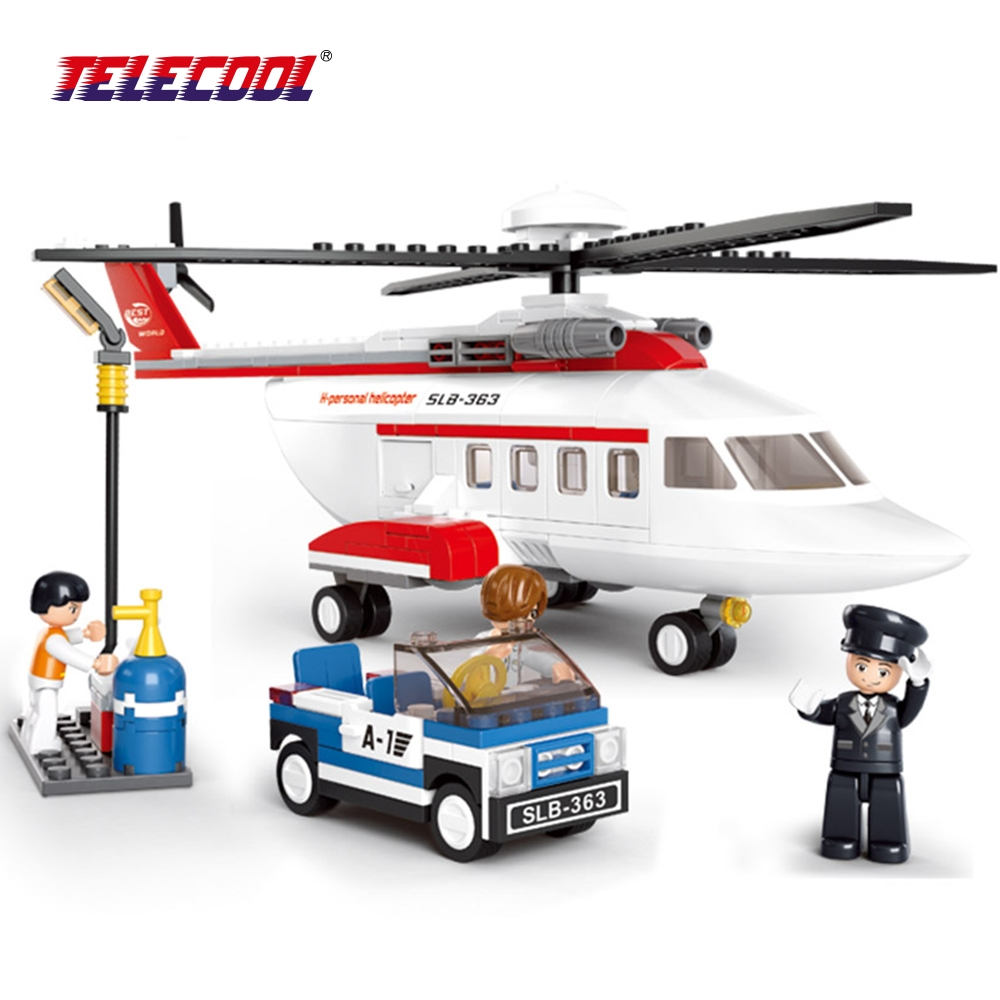 TELECOOL Airbus Military Helicopter Model Airplane Building Blocks Sets City Airport Bricks Toys Aircraft Compatible with Lepin