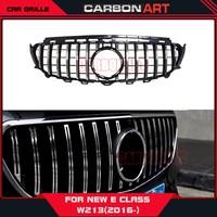 Carbonart Front Racing Grille AMG GT R Grills Fit for Benz E CLASS W213 E200 E250 E300 E320 E350 2016 2018 Auto Accessoires