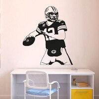 Удивительный новый Дизайн Green Bay Packers стены Стикеры Футбол плеер Гомер наклейка