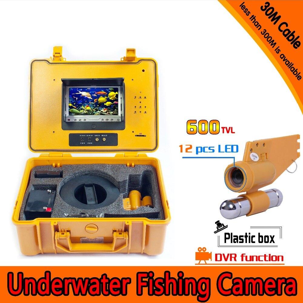 (1 комплект) 30 м кабеля Подводная охота Камера DVR 7 дюймов изделие Дисплей монитор 12 ИК белый светодиодный Рыболокаторы Дайвинг Камера Беспла