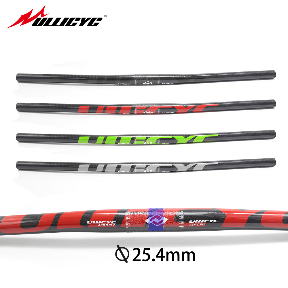 Special Ullicyc top carbon fiber rise <font><b>handlebar</b></font> flat <font><b>handlebar</b></font> mountain <font><b>handlebar</b></font> 25.5 *580/600/620/640/660/680/700/<font><b>720mm</b></font> CB146 image
