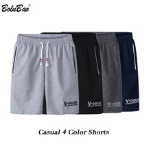 BOLUBAO Fashion Brand Men Casual Shorts Summer New Male Printing Drawstring Shorts Men #8217 s Breathable Comfortable Shorts cheap CN(Origin) Cotton Polyester Knee Length Elastic Waist Solid Regular skinny NONE