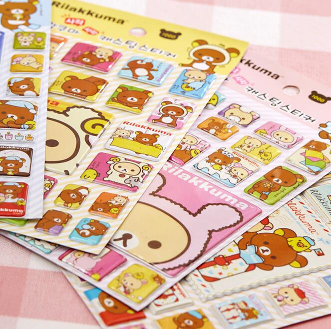 Kawaii Rilakkuma Cartoon Adhesive Stickers DIY Decoration Stickers Scrapbooking Crafts alive for all the things are nice stickers adhesive stickers diy decoration stickers