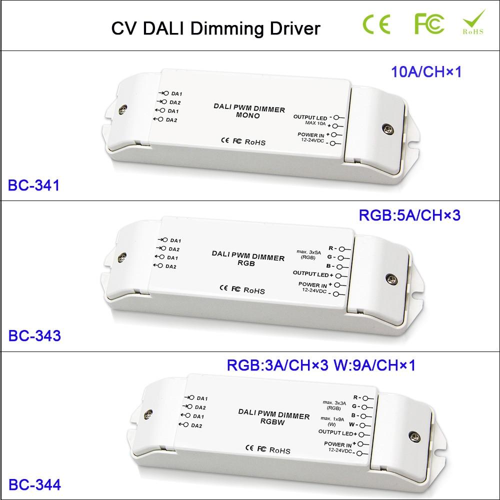 Hot CV DALI Led Dimmer Controller DC12-24V 1CH/3CH/4CH Dimming/RGB/RGBW Dimming Driver Controller for led strip tape light ltech lt 403 6a dali led dimming driver dc12 24v input 6a 3ch max 18a output led controller for rgb led strip