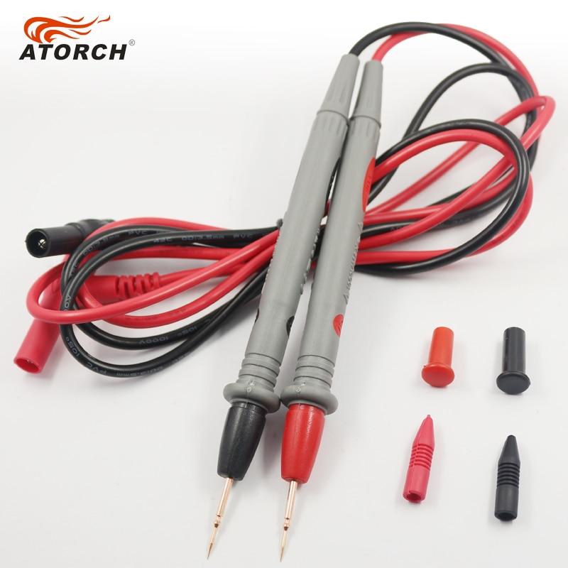 ATORCH tesztkábelek 1000V 20A digitális multiméter toll réz tűk - Mérőműszerek - Fénykép 3