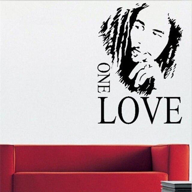 muziek spreuken engels 1 STKS 43x61 cm Bob Marley ONE Love Vinyl Muurtattoo Sticker  muziek spreuken engels