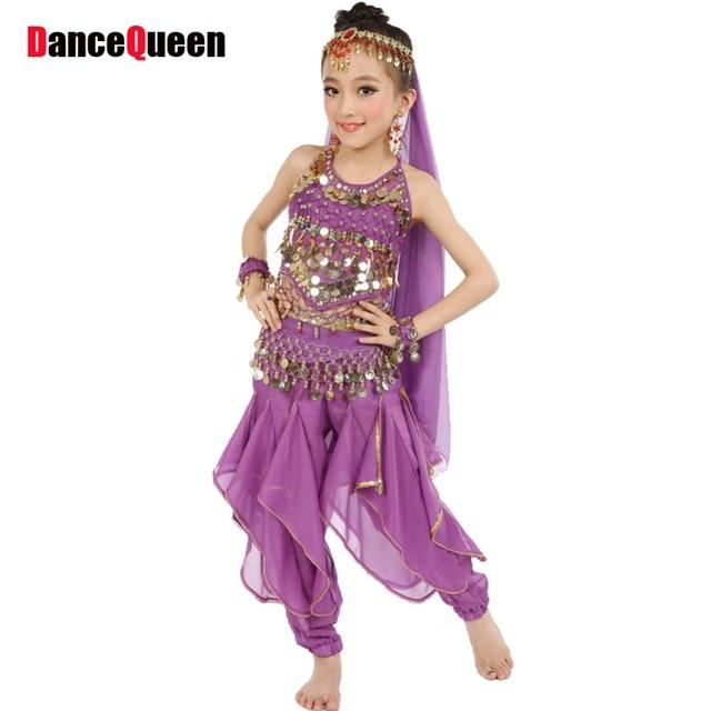Hot ! 2017 Girls Belly Dance Costume Child Bollywood Dance Costumes Bellydancer Children Indian Clothing Dresses Kids Bellydance
