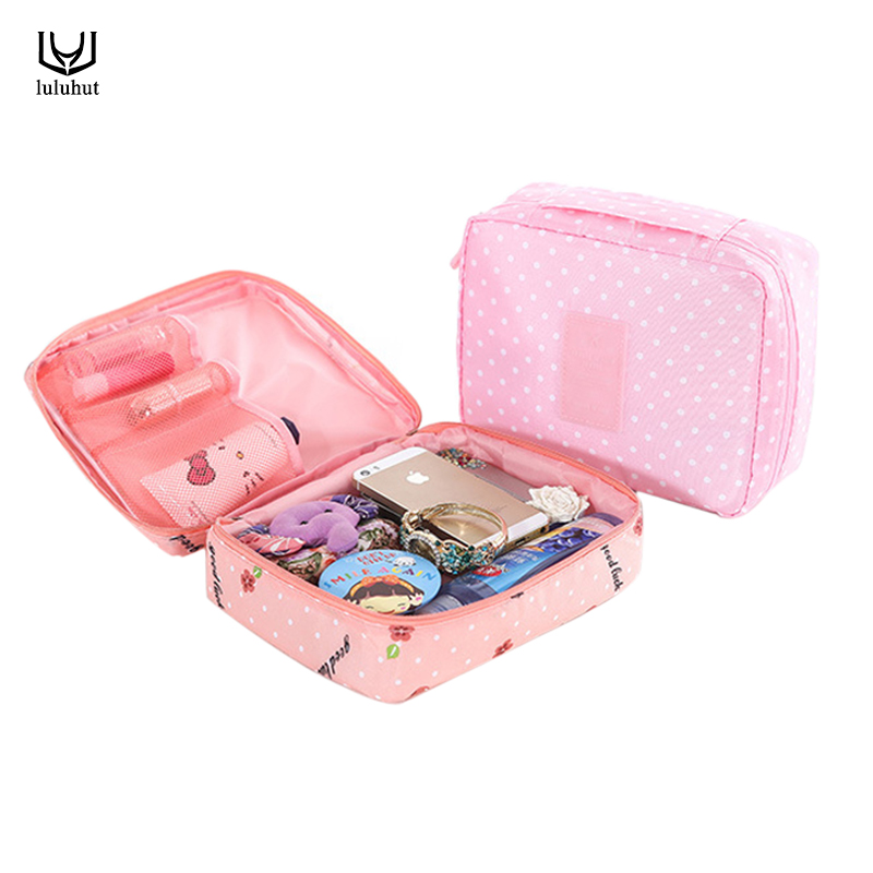 Luluhut mujer Bolsa de almacenamiento de viaje cosmético Capacidad - Organización y almacenamiento en la casa
