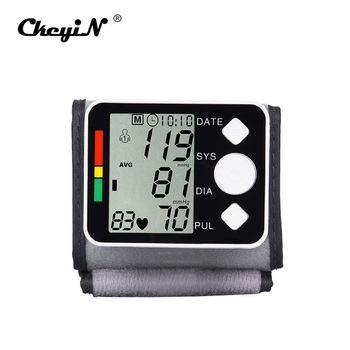 High-definition Digital Cuff Tonometer LCD Display Screen Wrist Blood Pressure Monitor Device Heart Pulse Rate Meter Tensiometer