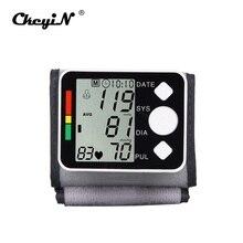 High-definition Digital Cuff Tonometer LCD Display Screen Wrist Blood Pressure Monitor Device Heart Pulse Rate Meter Tensiometer tension meter denso mechanical belt tensiometer btg 2 import tensiometer