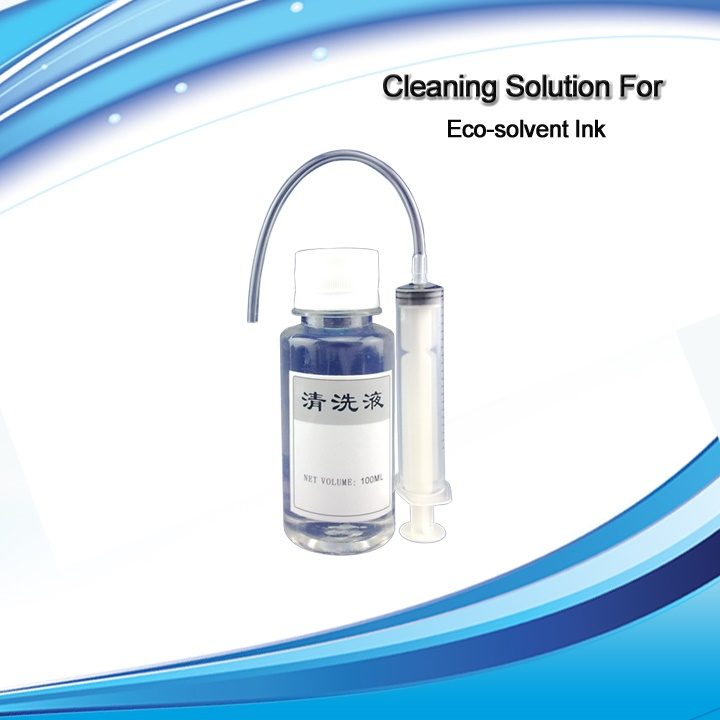 XIMO Cleaning Solution 250ml for Eco Solvent ink for Epson ,Roland, Mimaki, Mutoh etc. mutoh vj 1604w rj 900c water based pump capping assembly solvent printers
