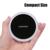 Choetech qi carregador sem fio almofada de carregamento sem fio com smart sensor de iluminação para galaxy s7 s6 edge e todos qi-dispositivos habilitados