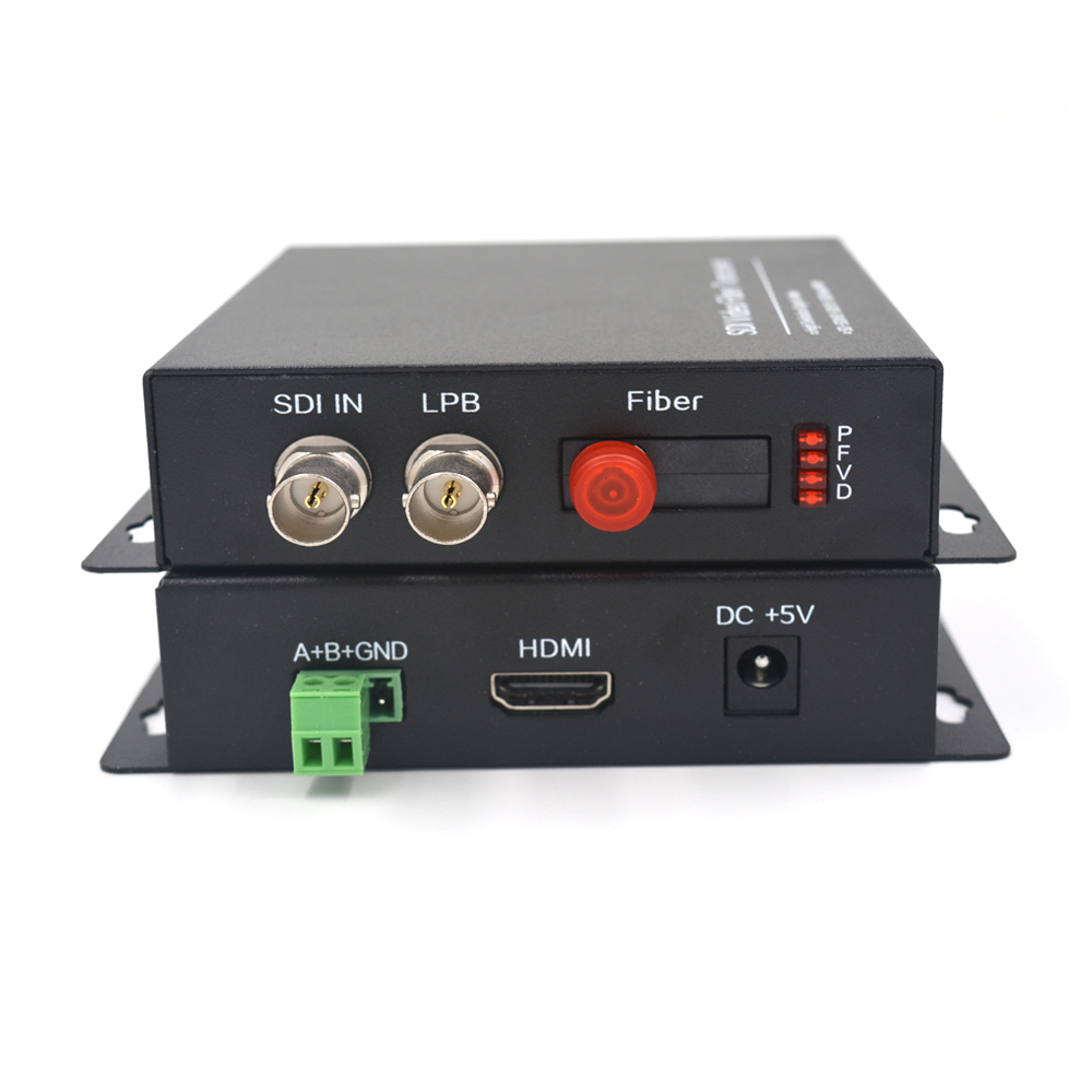 HD SDI Video Optical Media Converters with 1080P HDMI Transmitter and Recevier 1310/1550nm -Video Audio Data over fiber up 20Km