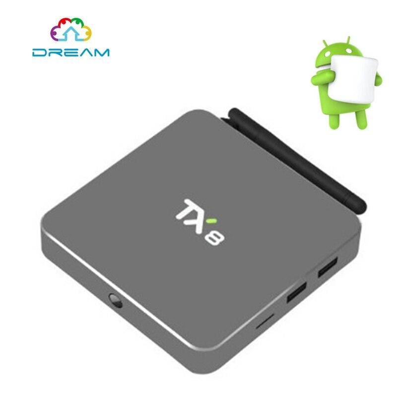 ФОТО TX8 Android 6.0 Amlogic S912 Octa core Set top box 2G 32G Android TV Box HDMI H.265 WIFI Media Player Smart tv box  5PCS