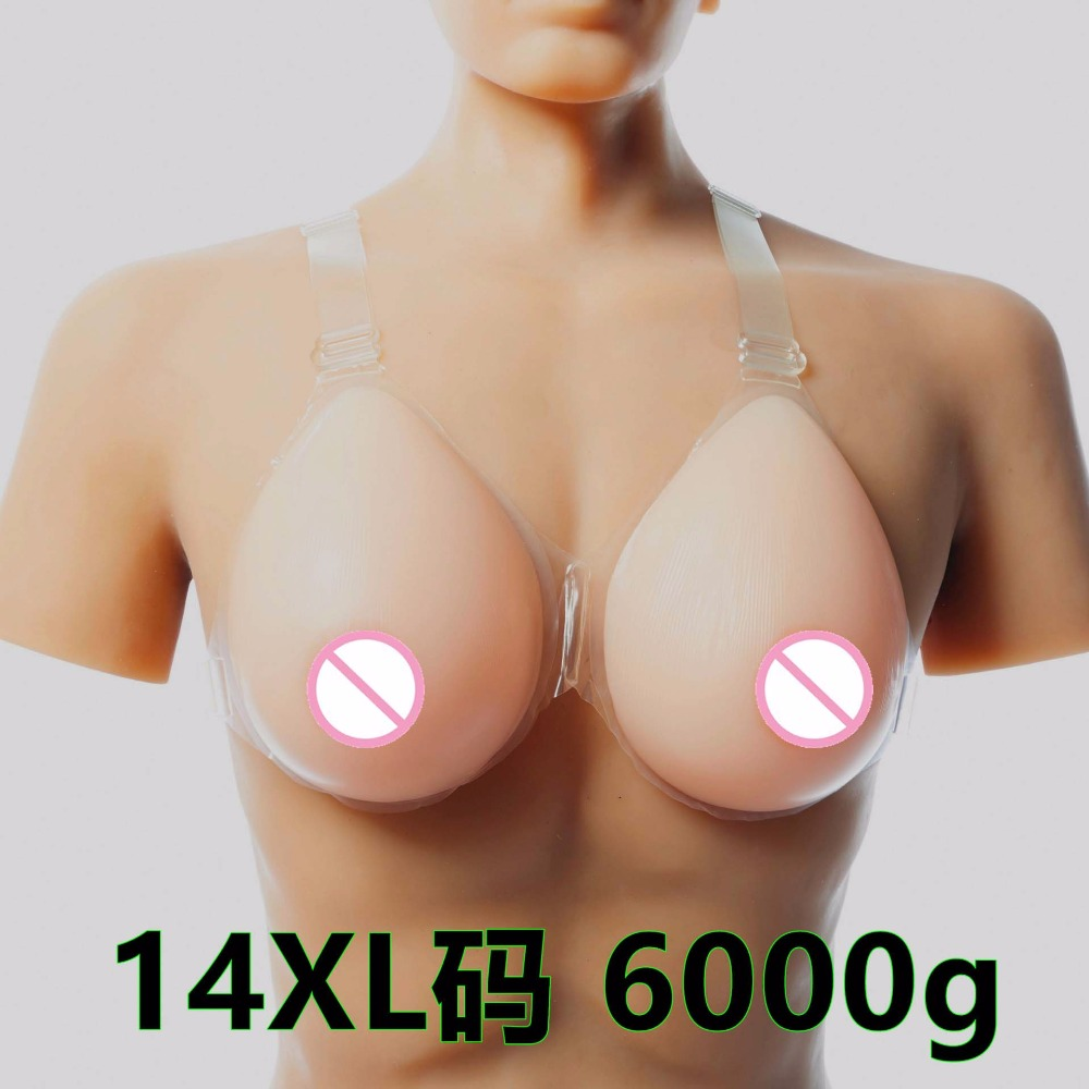 6000g/pair HH Cup huge 100% silicone realistic silicone breast forms Artificial silicone Bust fake Breast Boobs for me travesti 6000g pair suntan water drop realistic silicone artificial breast forms huge boobs huge breast for art show costume