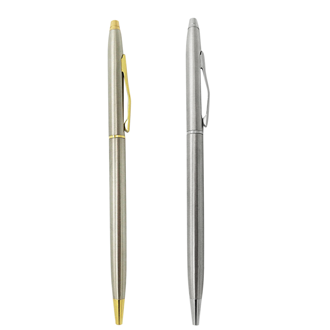 Reasonable Fangnymph Stainless Steel Rotating Metal Ballpoint Pen Stationery Ballpen 0.7mm Black Pen Office & School Supplies Ample Supply And Prompt Delivery Pens, Pencils & Writing Supplies